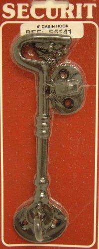 150mm 6 INCH BLACK ORNATE CABIN HOOK GATE GARDEN