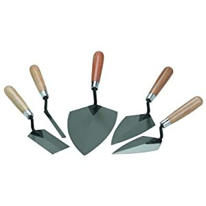 Masonry Hand Tools 5 Piece Mason Set. Quality and Durable Hand Tool Set. Comfortable Handles to Work Concrete. Our Trowels Will Help You Finish the Cement Nicely. This Is the Best Masonry Hand Tool Finishing Set You Will Find.