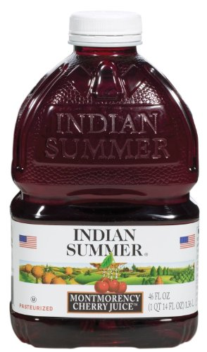 Tart Cherry Juice Indian Summer 100% Juice, Montmorency Cherry, 46 Oz Container (Indian Summer Cherry Juice compare prices)