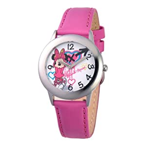 Disney Kids' W001063 Minnie Mouse Analog Display Analog Quartz Purple Watch