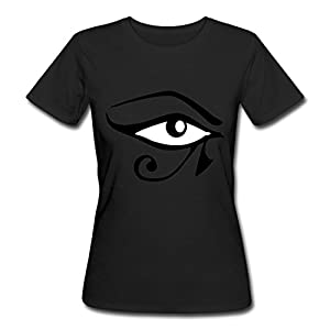 KoaoGA Custom Never Was Wadjet Eye Of Horus For Women's Black T-Shirts