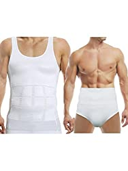 AARPS Seamless Mens Vest and Mens Brief Shapewear Pack