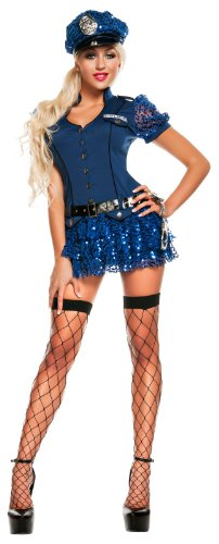 Starline - Blue Sequin Cop Adult Costume