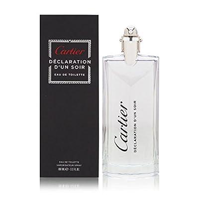 Cartier Declaration D'un Soir Eau de Toilette Spray for Men, 3.3 Ounce