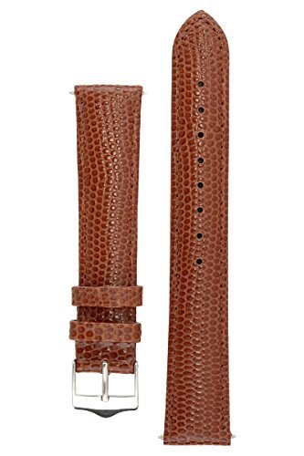 Signature Dragon in Brown 20 mm watch band. Replacement watch strap. Genuine leather. Silver Buckle (Jacob And Co Watch Band compare prices)