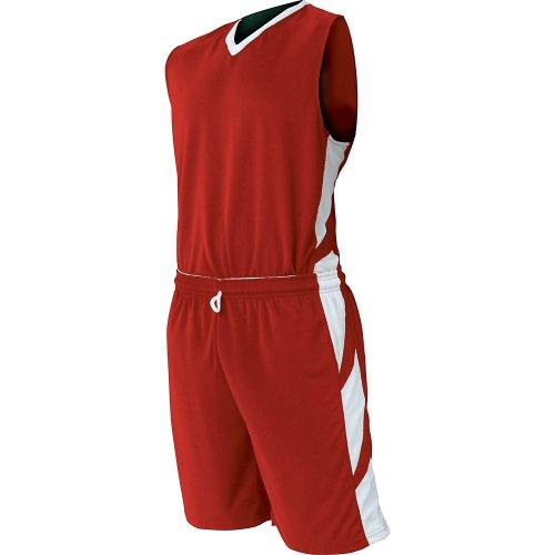 Champro Youth Reversible Dream Basketball Jersey , Scarlet|White, medium