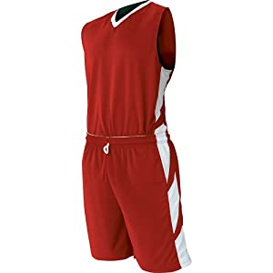 Buy Champro Youth Reversible Dream Basketball Jersey , Scarlet|White, large  by Champro