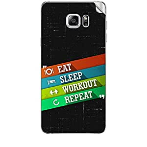 Skin4Gadgets Eat Sleep Workout Repeat Phone Skin STICKER for SAMSUNG GALAXY NOTE 5