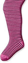 Country Kids Baby Girls\' Mini Stripe Tights, Plum, 12 24 Months
