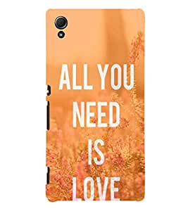 EPICCASE All you need is Love Mobile Back Case Cover For Sony Xperia Z4 Mini / Z4 Compact (Designer Case)