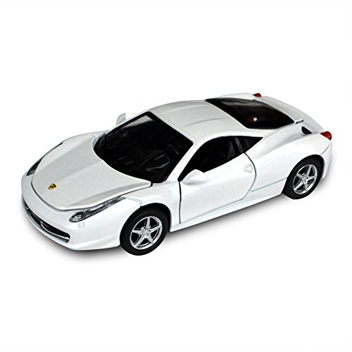 Tianmei Ferrari 458 Italia Supercar Styling 1:32 Alloy Diecast Car Models Collection kids Toys Decoration Ornaments Light & Sound (White Color) (Ferrari 458 Italia Model compare prices)