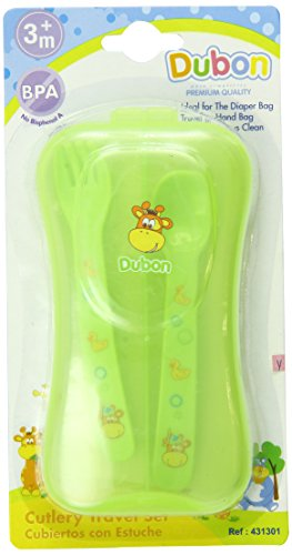 Bebe Dubon Fork and Spoon with Travel Case, Colors May Vary - 1