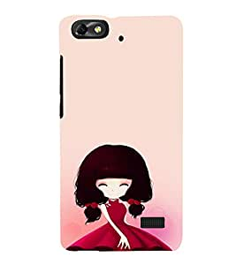 EPICCASE Beauty girl in Pink Mobile Back Case Cover For Xiaomi Redmi Mi4c (Designer Case)