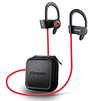 Parasom A6 Wireless Bluetooth Headphones Sports Noise Cancellation Earphones Sweatproof Earhook Design Superb Sound with Mic For iPhone & all Android for Running Workout