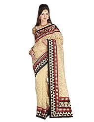 Mina Bazaar Net Saree With Blouse Piece - B00NSCOOE0
