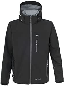 Trespass Men's Accelerator Softshell Jacket - Black, 2X-Large