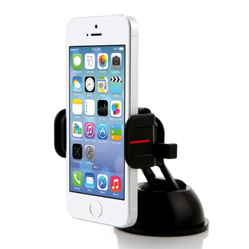 Exogear ExoMount Touch Dashboard Windshield Car Mount for iPhone 6S iPhone 6S Plus, Galaxy S6, Galaxy S6 Edge, Galaxy Note 5, LG G4 Smartphones (Black)