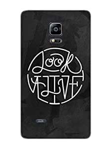 Look Alive Typography - Designer Printed Hard Back Shell Case Cover for Samsung Note 4 Edge Superior Matte Finish Samsung Note 4 Edge Cover Case