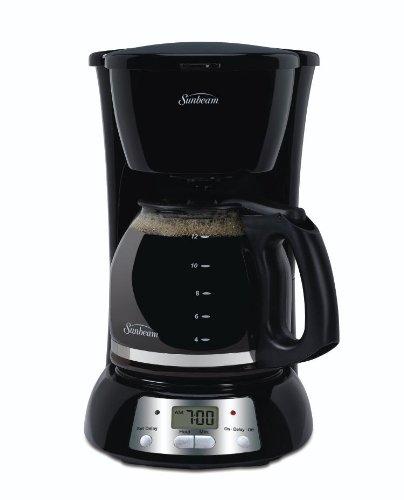 Imagen de Sunbeam TGX24 para 12 tazas Cafetera programable, Negro
