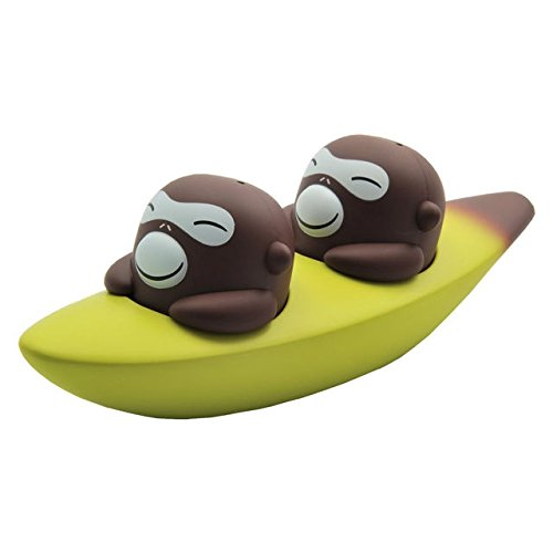Designer Salt and Pepper Shakers Set by Italian Designer Company Alessi. Banana Bros - Designed By Stefano Giovannoni. Unique Present for Housewarming, Gift for Friends and Family. (Aqua Bird Salt Cellar compare prices)