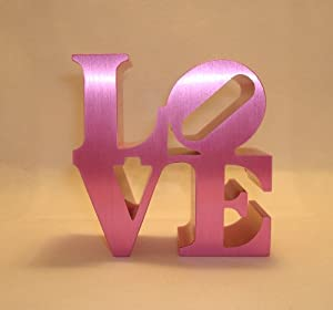 Philadelphia Love Replica - Love Paperweight By Robert Indiana (Pink)