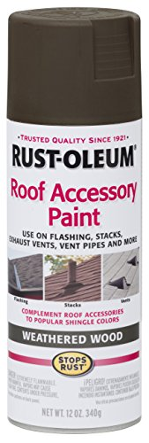Rust-Oleum 285217 Roof Accessory Spray Paint, 12 oz, Weathered Wood/Brown (Shingle Paint compare prices)