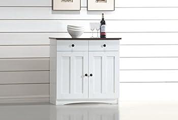 Baxton Studio Lauren Kitchen Cabinet
