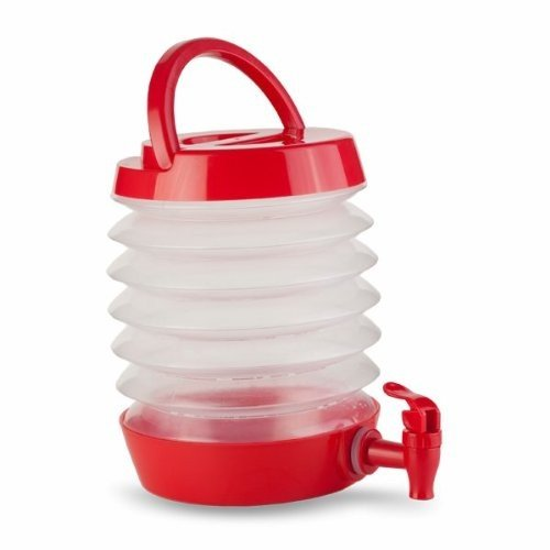 Thirzt 2 Go - Collapsible Beverage Dispenser - 2 Gallon - Red