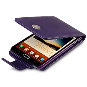 PURPLE SAMSUNG GALAXY NOTE PU LEATHER FLIP CASE / COVER / POCKET / POUCH