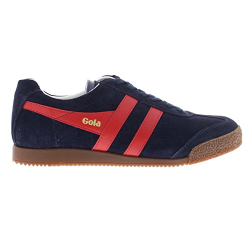 Gola Sport Womens Harrier Navy Red Suede Navy Red Suede Trainers 7 US