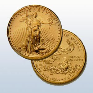 Gold American Eagle Fractional Bullion Coin .999 pure