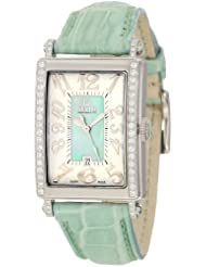 Gevril Women's 7246NE Mini Quartz Avenue of Americas Green Diamond Watch