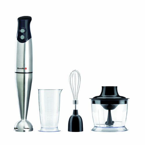 Breville VHB014 400 W Black and Stainless Steel Hand Blender Set