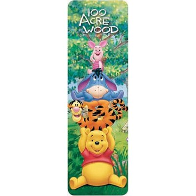 Winnie the Pooh 100 Acre Wood Bookmark - 3x7