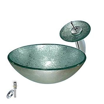 bronze runden glas schiff sp lbecken mit wasserhahn. Black Bedroom Furniture Sets. Home Design Ideas