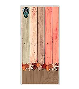 Wooden Pattern 2D Hard Polycarbonate Designer Back Case Cover for Sony Xperia Z5 :: Sony Xperia Z5 Dual