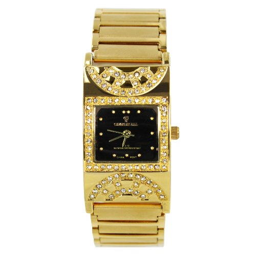 Charlie Jill Women Watch in Black Dial 14K Gold