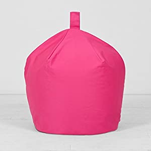 Extra Large XL Children's Kids Adult Cotton Fuchsia Pink Bean Bag Beanbag Filled from Textile Warehouse