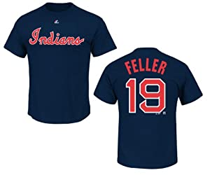 Cleveland Indians Bob Feller Blue Name and Number T-Shirt by VF