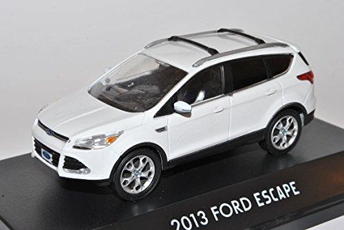 ford-kuga-ii-escape-weiss-ab-2012-1-43-greenlight-modell-auto-mit-individiuellem-wunschkennzeichen
