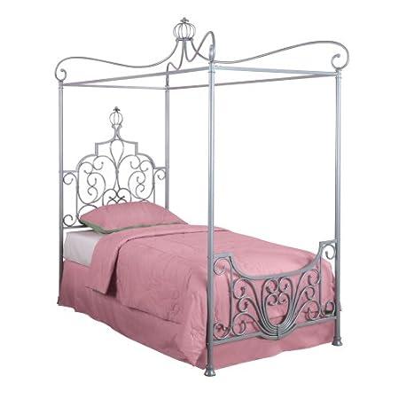 Princess Rebecca Sparkle Silver Canopy Bed