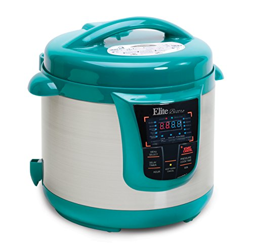 Elite Platinum EPC-808T Maxi-Matic 8 Quart Electric Pressure Cooker, Turquoise (Stainless Steel) (Tfal Pressure Cooker 4 Quart compare prices)