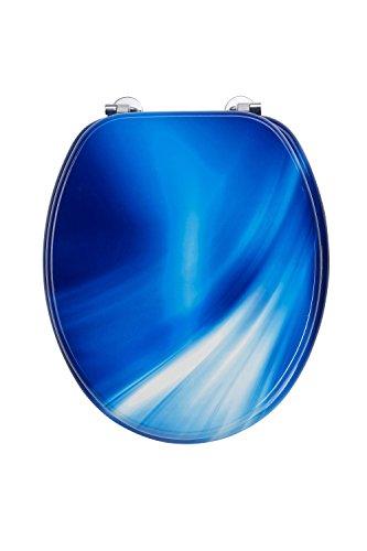 EDBW01 MDF WC Sitz Motiv Blue Wave