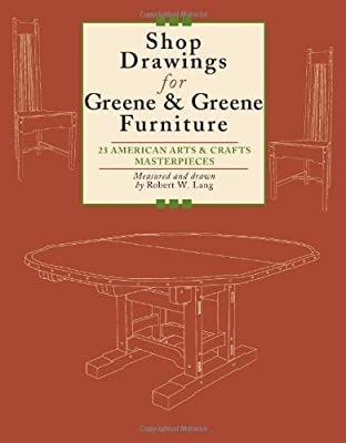 Shop Drawings for Greene & Greene Furniture: 23 American Arts and Crafts Masterpieces by Fox Chapel Publishing
