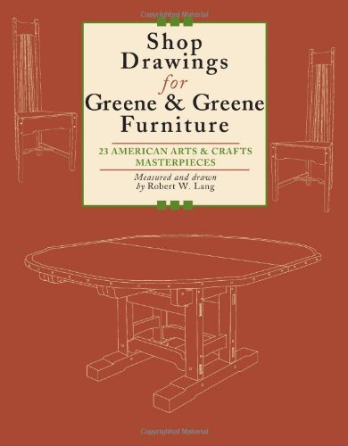 Shop Drawings for Greene & Greene Furniture: 23 American Arts and Crafts Masterpieces, by Robert Lang