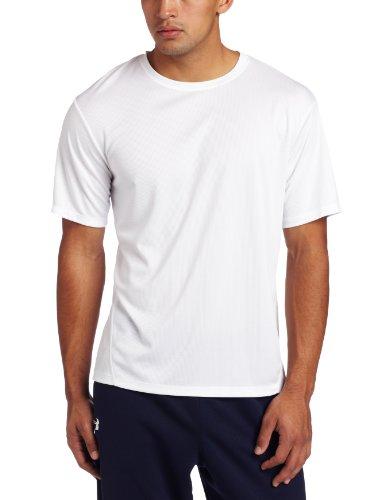ASICS Men's Core Short Sleeve Shirt, White, Large