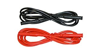 AEMC 2140.57 2-Piece Color-Coded Lead Set, Red and Black