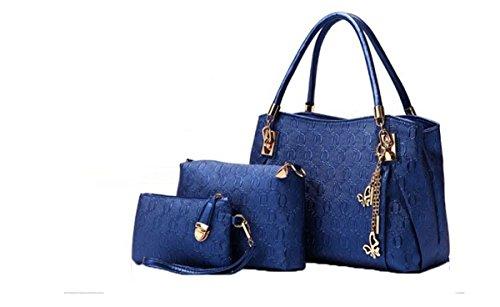 Di Grazia Stylish European 3 In 1 Combo Italian PU Leather Women s Shoulder Satchel  Handbag - Sapphire Blue Price in India  a5eff0c1341ac
