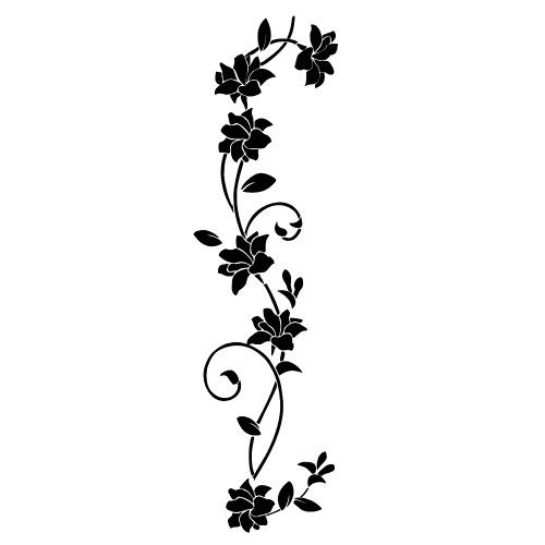 songmics hibiskus blume wandaufkleber pflanze blumenranke wohnzimmer vinyl fwt11h. Black Bedroom Furniture Sets. Home Design Ideas