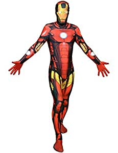 "Classic Superhero Morphsuit Costumes Spiderman Iron Man Deapool Captain America Wolverine All Sizes Small To XXL (Small 4ft6""- 5ft (138cm - 150cm), Classic Iron Man Costume) by fancy dress warehouse [並行輸入品]"